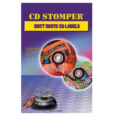CD Stomper CD/DVD Compatible Matt Labels